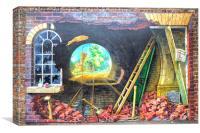 Tunnel Wall Art  Knaresborough  Yorks, Canvas Print