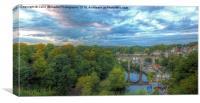 Moody Sky  Knaresborough  Yorkshire, Canvas Print