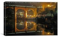 Night at  Knaresborough  2, Canvas Print