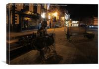 Night at  Knaresborough Mother Shipton, Canvas Print