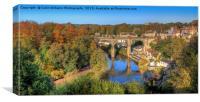 View From The Castle - Knaresborough Autumn, Canvas Print