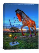 The Featherstone War Horse - 2, Canvas Print