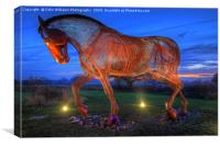 The Featherstone War Horse - 3, Canvas Print