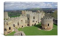 Ludlow Castle Chapel and Great Hall, Canvas Print