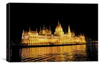 Parliament Building At Night, Canvas Print