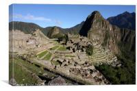 Machu Picchu Citadel, Peru , Canvas Print