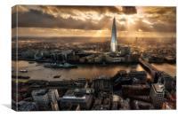 London from the Sky Garden, Canvas Print