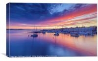 Sunset over Plymouth Sound, Devon, Canvas Print