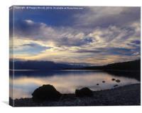 Lake Te Anau Sunset, New Zealand, Canvas Print