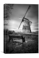 """""""Bidston Windmill"""", Canvas Print"""