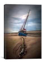 """Rope&Anchor (Meols Fishing Boat), Canvas Print"