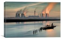 Industrial Sunrise, Canvas Print