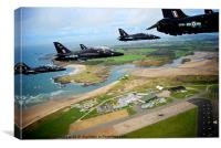 Hawks over RAF Valley, Canvas Print