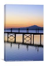 Boardwalk Sunrise, Canvas Print