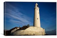 St Marys Lighthouse, Canvas Print