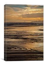 On Golden Sea, Canvas Print