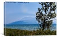 Lake Garda in blue and green, Canvas Print