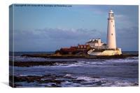 St Marys Island and Lighthouse, Canvas Print