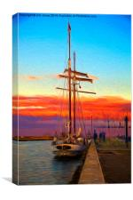 The Flying Dutchman - Impressionist filter, Canvas Print