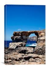 Azure Window, blue sky and blue sea, Canvas Print