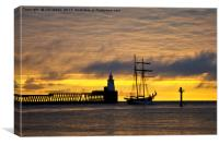 The Flying Dutchman leaving port, Canvas Print