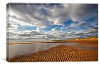 Ripples in the sand, Canvas Print