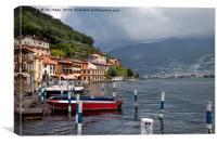 Italian Lakeside Village, Canvas Print