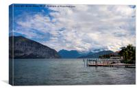 Lake Iseo looking north from Iseo Town, Canvas Print