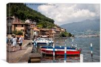 Italian Lakeside Village (2), Canvas Print