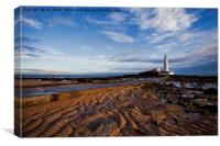 Another daybreak at St Mary's Island, Canvas Print