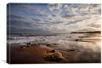 December on the beach, Canvas Print