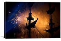 Fireworks behind the Yardarm, Canvas Print