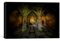 Abbey Sunlight, Canvas Print