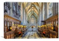 Cathedral Aisle, Canvas Print
