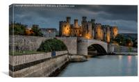 Conwy Castle by Lamplight, Canvas Print