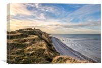 Sheringham cliffs and the coastwatch station, Canvas Print