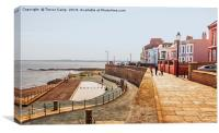 Hartlepool Town Wall, Canvas Print