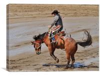 Saddle bronc, Canvas Print
