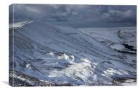 The Great Ridge In Winter, Canvas Print