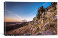 Contrails Over Stanage Edge, Canvas Print