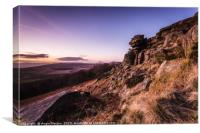 The Head of Stanage Edge, Canvas Print