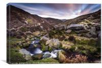 Grindsbrook Clough View to Edale, Canvas Print