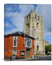 The Bell Tower Beccles , Canvas Print