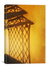 Shadow of Hanging rope chair, Canvas Print