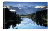 Lake Matheson Mountain Reflection, Canvas Print
