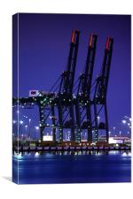 Cranes at Southampton Docks, Canvas Print