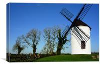 Sail shadow on Ashton windmill, Canvas Print