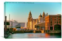 Royal Albert Dock, Liverpool , Canvas Print