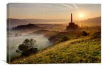 Dawn on Industry, Canvas Print
