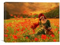 Red Dream, Canvas Print